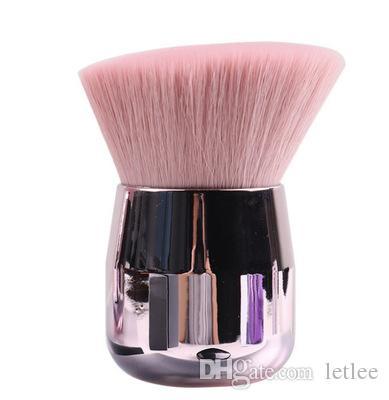 Setas se ruborizan maquillaje cepillo suave mini brocha para polvos de oro rosa de cabeza plana de cabeza redonda Protable maquillaje cepilla lindo Herramientas cosméticas