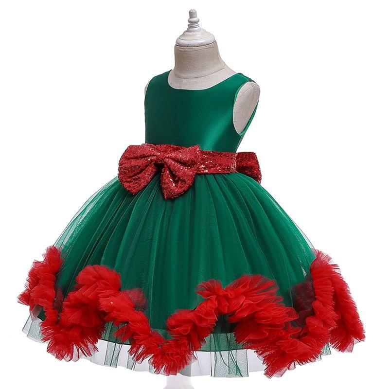 Toddler Baby Girl Christmas Clothes Lace Tutu Princess Dress Xmas Party Dress UK