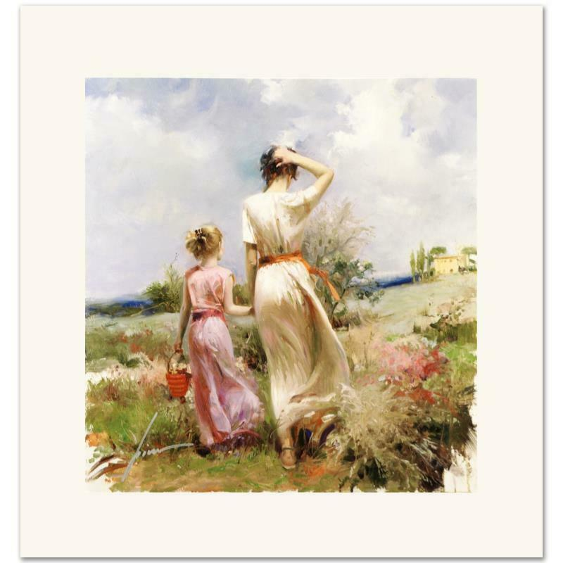 "Pino Art Painting ""Tuscan Stroll"" Home Decor Handcrafts Oil Painting On Canvas Wall Art Canvas Pictures 200611"