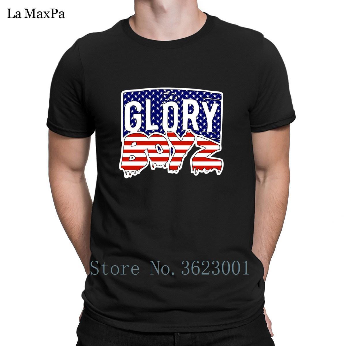 Erkekler İlkbahar Sonbahar Tişörtlü Mens Benzersiz Tişört S-3XL HipHop için Delao Tshirt tarafından özelleştirme Eğlence Erkek Tee Gömlek Glory Boyz Amerika Logo