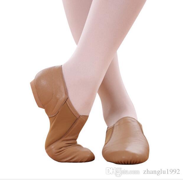 Sapatos de dança de couro de alta qualidade são populares! Sapatos de dança Jazz Dance com couro Elastic Cloth Shoes