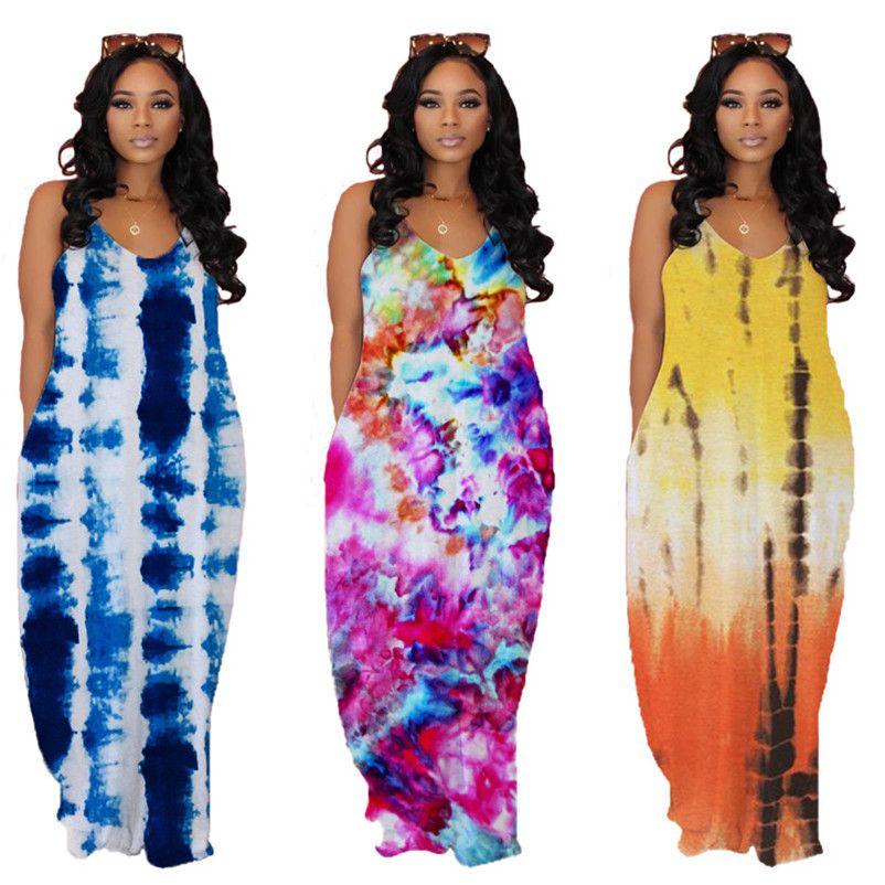 Femmes Robes sexy lâche robes longues d'une seule pièce ensemble Party robe de soirée robes d'impression pull-over sexy klw3770