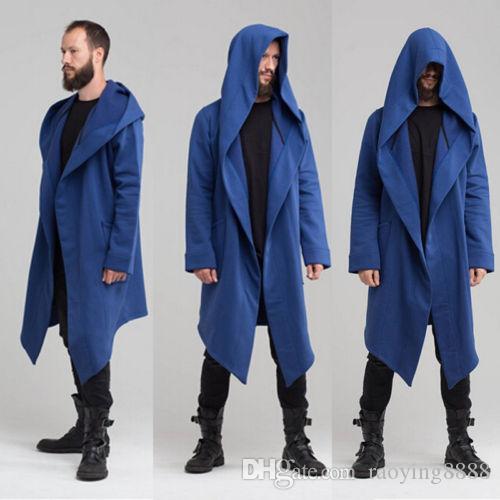 النساء الرجال للجنسين طويل أبلى مقنع سترة معطف الشتاء الدافئة عارضة