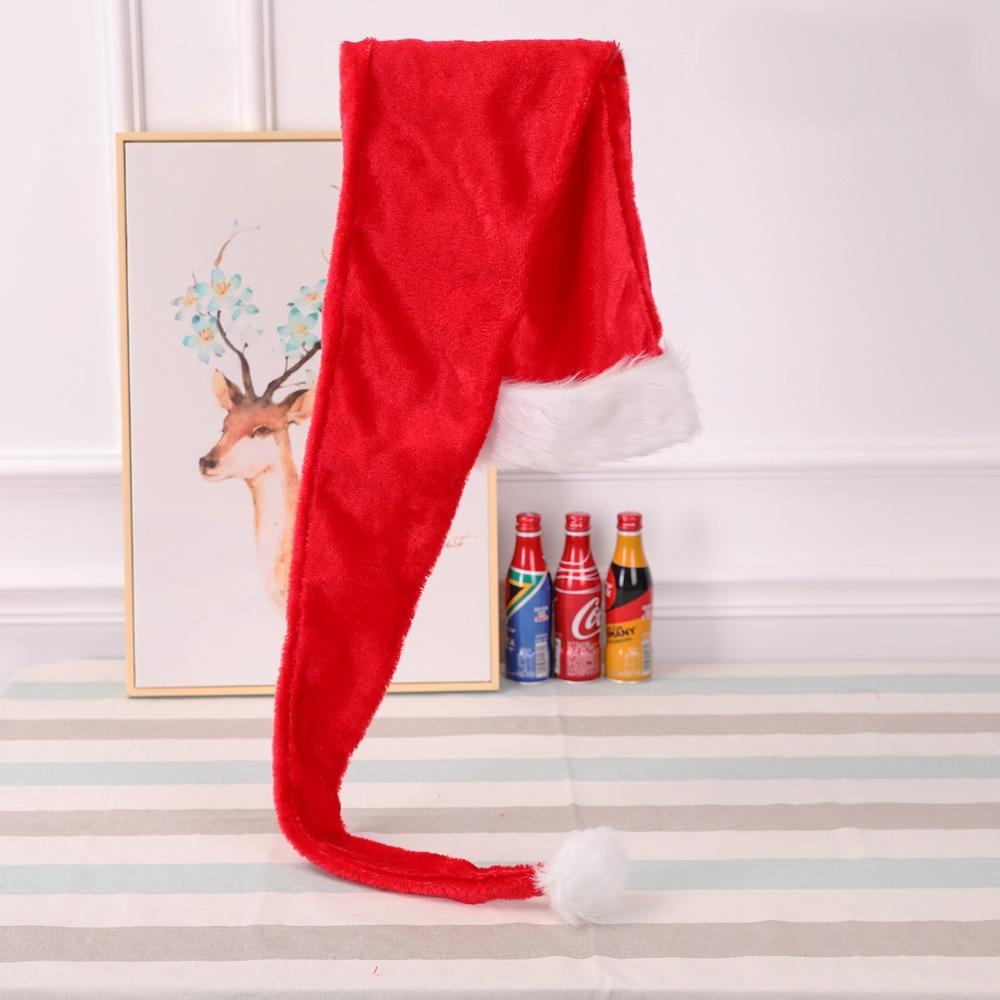 Vente Hot New 1.5m Noël longue de style chapeaux de fête de Noël Père Noël Chapeau long velours rouge blanc Cap Costume Fournitures de Noël