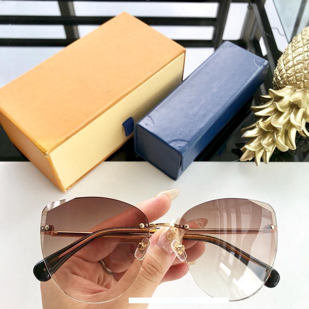 occhiali da sole di marca - un nuovo elemento 2019 di moda per uomini e donne con taglio irregolare occhiali da sole Z1225E lente