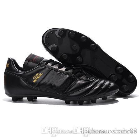 Erkek Copa Mundial Deri FG Futbol Ayakkabı İndirim Futbol Profilli 2015 Dünya Kupası Futbol Boots Boyut 39-45 Siyah Beyaz Turuncu futbol Botines