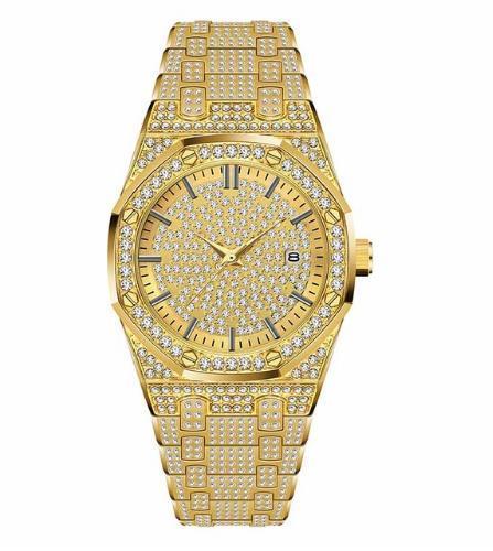 2019 мужские часы мужские часы лучший бренд класса люкс мода алмаз япония кварцевый механизм золото из нержавеющей стали 30 м водонепроницаемый
