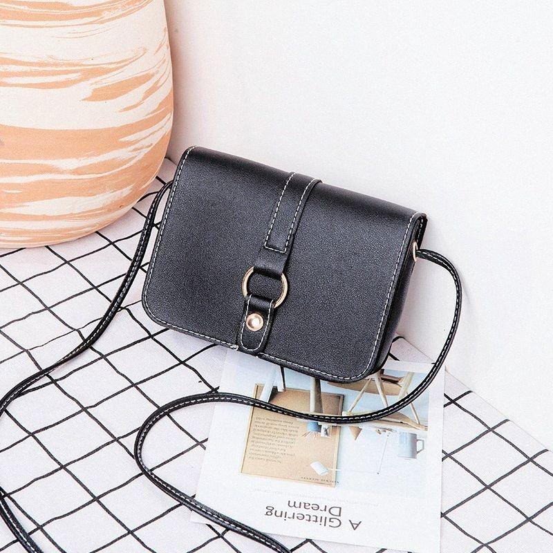 Korean Women Bag 2020 Summer New PU Flap Casual Solid Hasp Soft Shoulder Bags Purse Ladylike Lock MINI Bag Cheap Designer Handbags Bla as6a#