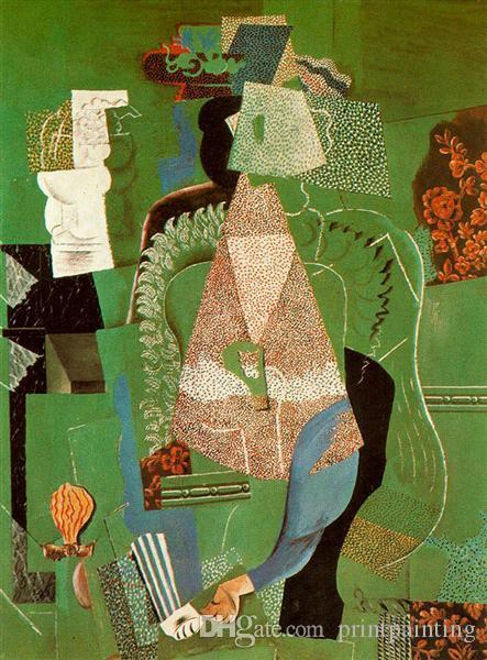 Pablo Picasso Klassische Ölgemälde Portrait des jungen Mädchens De Jeune Fille 100% handgemacht durch erfahrene Maler auf der weißen Leinwand Picasso633