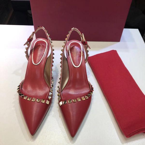 Vendita-Take calda scatola! Con tacco Scarpe Donna pantofole, sandali, con tacchi alti, scarpe di marca, sandali, formato a 4 colori; 35-40
