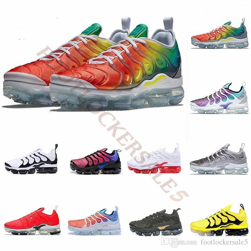 Rainbow StringTn Plus Coussins Chaussures de course Homme Bumblebee Be True Triple Noir Pourpre Crimson Femmes Baskets Designer Baskets Taille 5.5-12