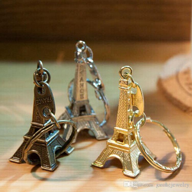 Moda Paris turu Eyfel Kulesi anahtarlıklar Kolye Yüzük Çanta Çanta Takılar Cadılar Bayramı Anahtarlıklar Sıcak Yenilik Anahtar Zincirleri Kişiselleştirilmiş Hediyeler