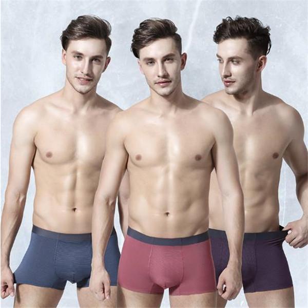 2020 Lüks Erkek Tasarımcı Underwears Boksörler Nefes Katı Renk Külotlar Moda Slim Fit Kasetli Erkek Giyim