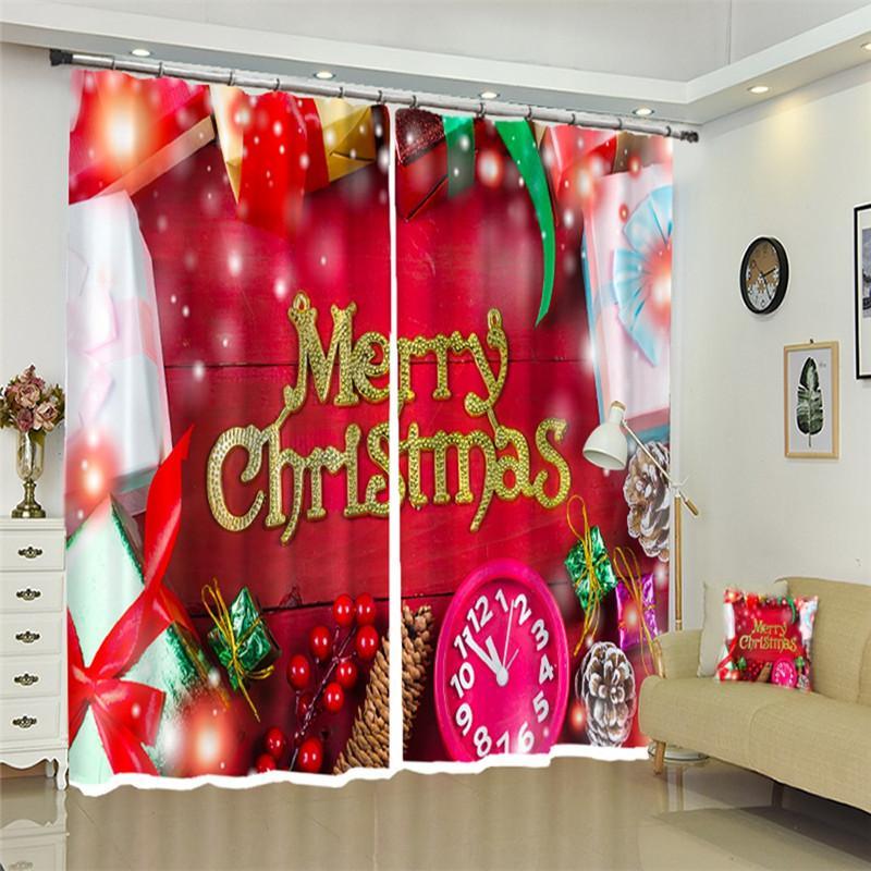 3D-Fenster Vorhänge Blackout Wohnzimmer Büro Schlafzimmer Design-Weihnachtsgeschenkkasten Cortinas drapiert Rideaux dekorieren