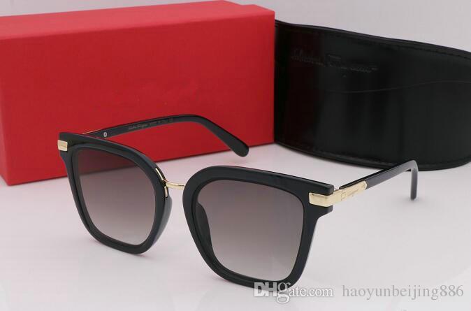 1 pcs Lunettes de soleil de qualité supérieure pour les femmes Marque de mode Designer Or Cadre en métal Rouge Coloré Lunettes de soleil Lunettes Eyewear Come Brown Box