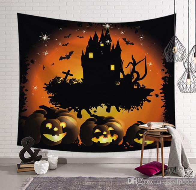 The latest 20 models of Halloween wall blanket are worn by 150X130CM and 203X150CM, which can be customized to any pattern. Free shipping