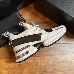 2019 zapatos deportivos blancos Negro y ocio de los hombres de ocio deportivo de alto nivel de los nuevos hombres de la marca tamaño 38-45 entrega libre del zapato original de 1 1