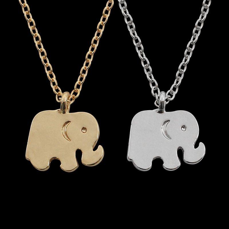 1 UNID Aleación Elefante Colgante Collar Animales Cuelgan Colgante Charms Collar Para Niños Joyería de La Muchacha Regalo de Cumpleaños