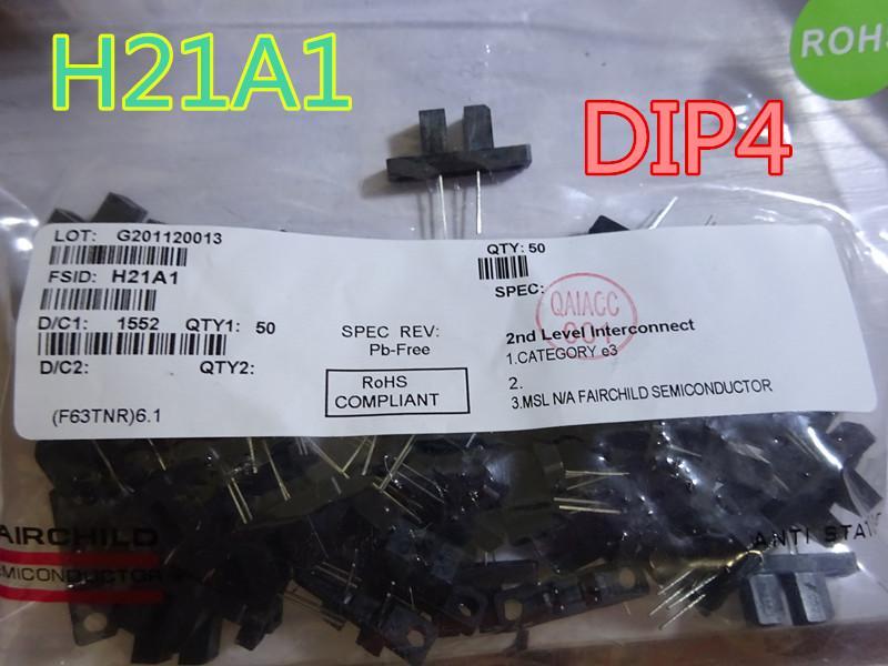 10pcs / lot New Sensor H21A1 DIP4 interruptor fotoelétrico phototransistor 3mm de transporte free