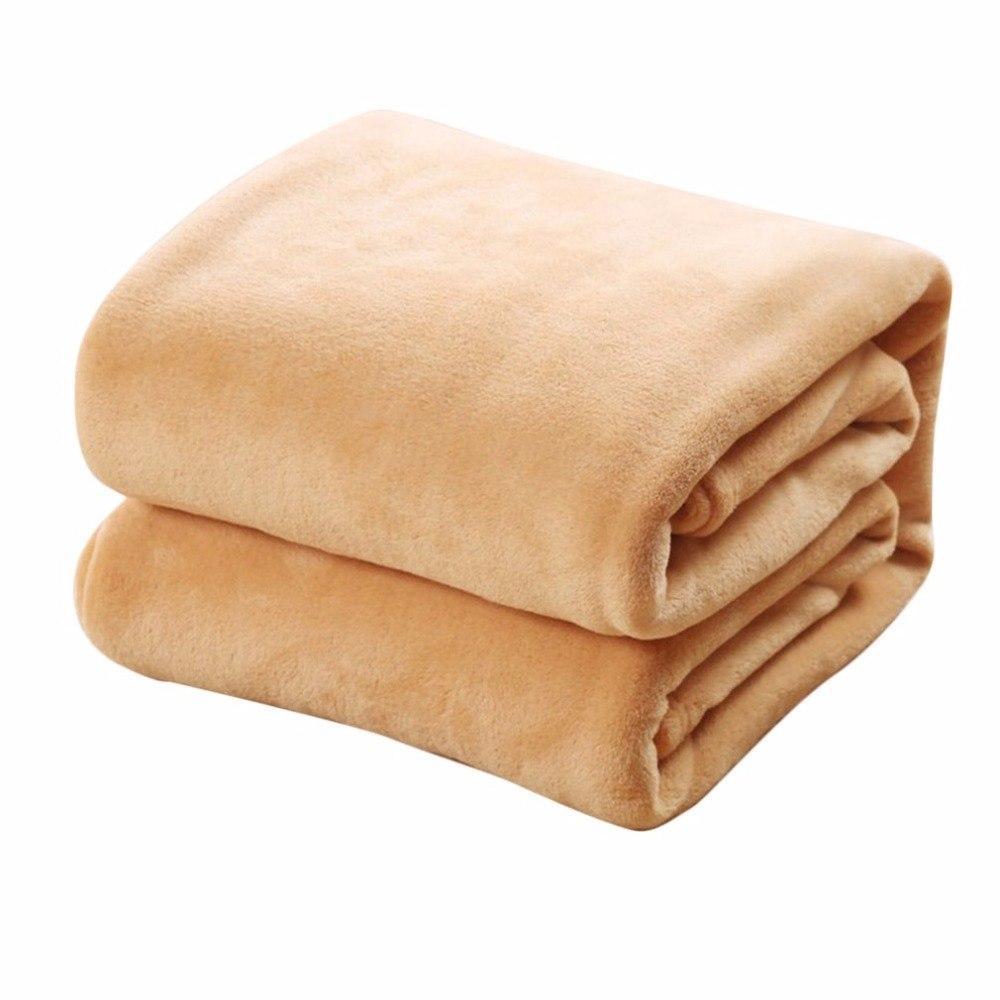 مريحة سوبر لينة الدفء الفانيلا بطانية كبيرة الحجم بلون المنزل أريكة الفراش مكتب سيارة بطانية المنسوجات المنزلية