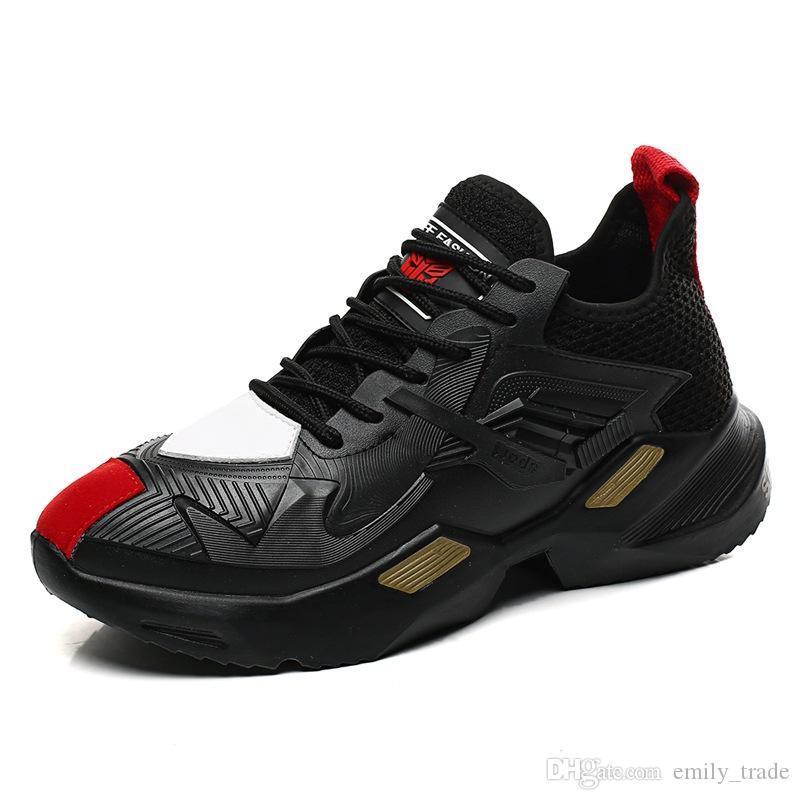 sapatos masculinos Moda Outono Nova grossas Homem inferior Sapatos casuais Marca respirável moda Flats Luz Antiderrapante Sapatos