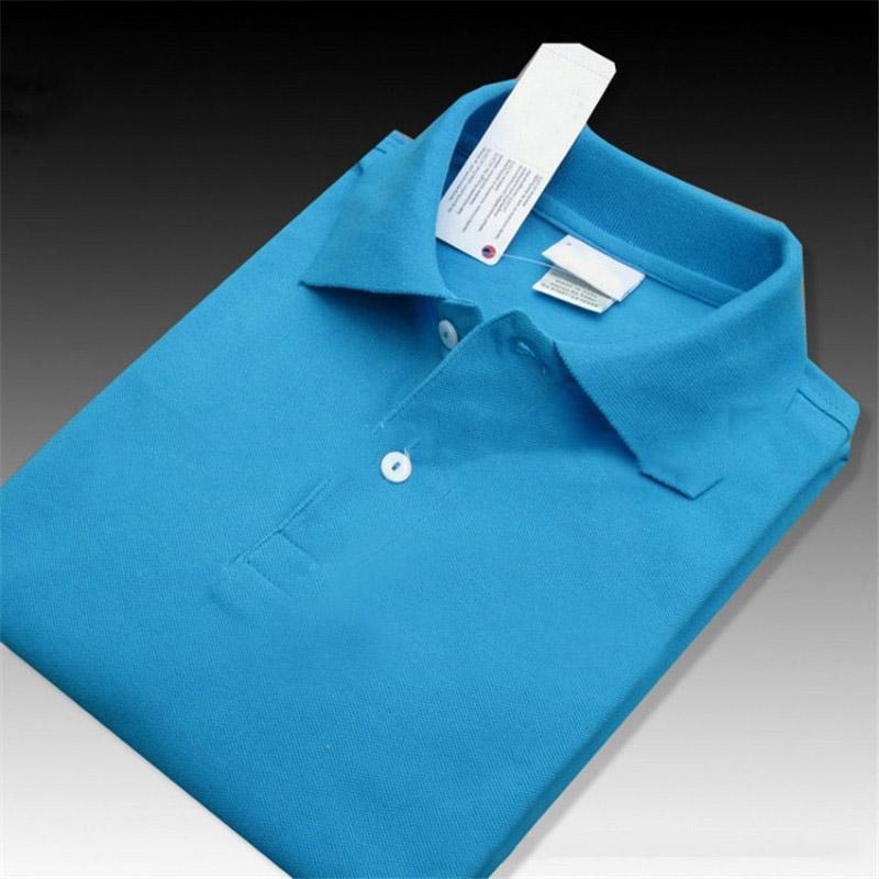Nakış Logo Polo Trend Gömlek Adam Tasarımcı Yaz Polo Gömlek Kadınlar Yüksek Kalite En Tee Moda Profesyonel Katı Renk T Gömlek XS-4XL