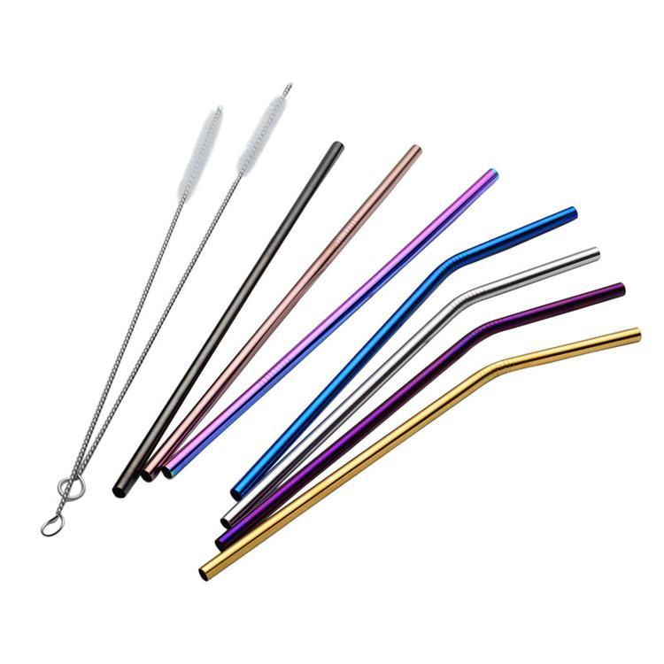 Eco Gold Straws قابلة لإعادة الاستخدام من القش 304 الفولاذ المقاوم للصدأ القش ل 20 oz بهلوان أدوات الشرب