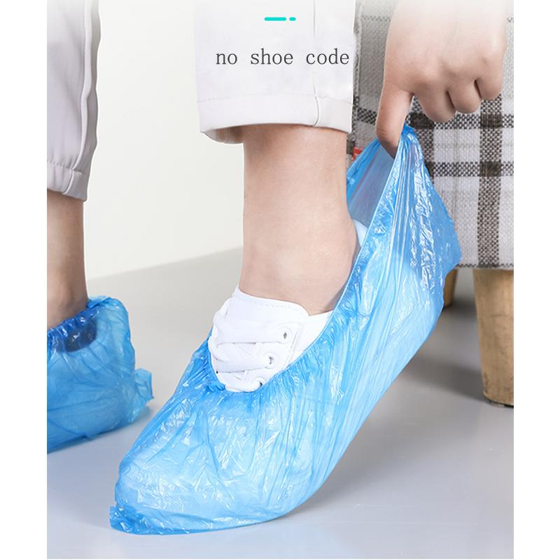 100Pcs Unisex Disposable Shoe Covers Dustproof Non-slip Waterproof Foot Covers