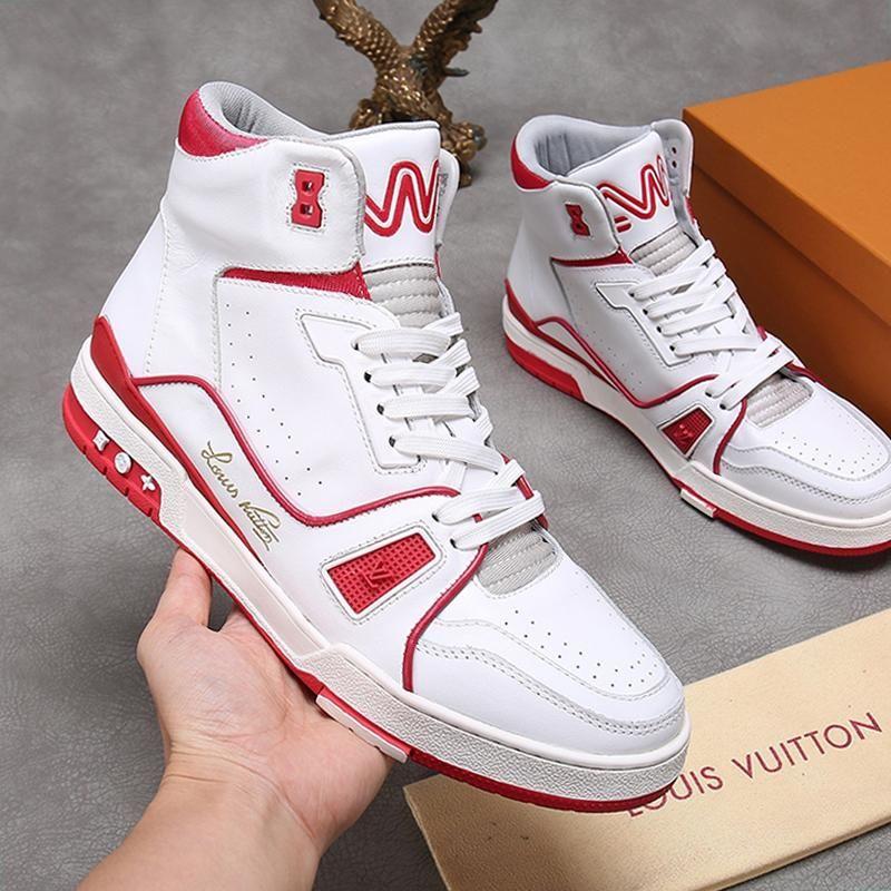 Luxe formateur Sneaker Boot Men '; S Chaussures Scarpe Da Uomo Chaussures Sportive de sport confortable Sneakers respirant Plus Size Lace -Jusqu'à Hommes Bo