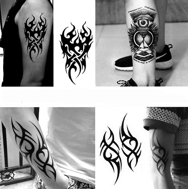 Impermeable Tatuaje Temporal de los hombres de Fuego Tatoo Eagle Eagle Mandala Ojo Llama Totem Transferencia de Agua Falsa Tatto Para Hombre SH190724