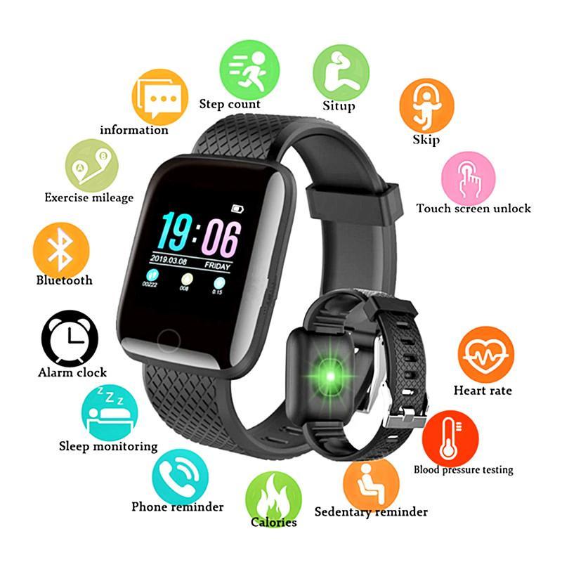 حار بيع D13 الذكية الساعات 116 زائد سرعة القلب ووتش SmartWristband رياضة ساعات الذكية باند للماء ساعة ذكية للهواتف أندرويد IOS