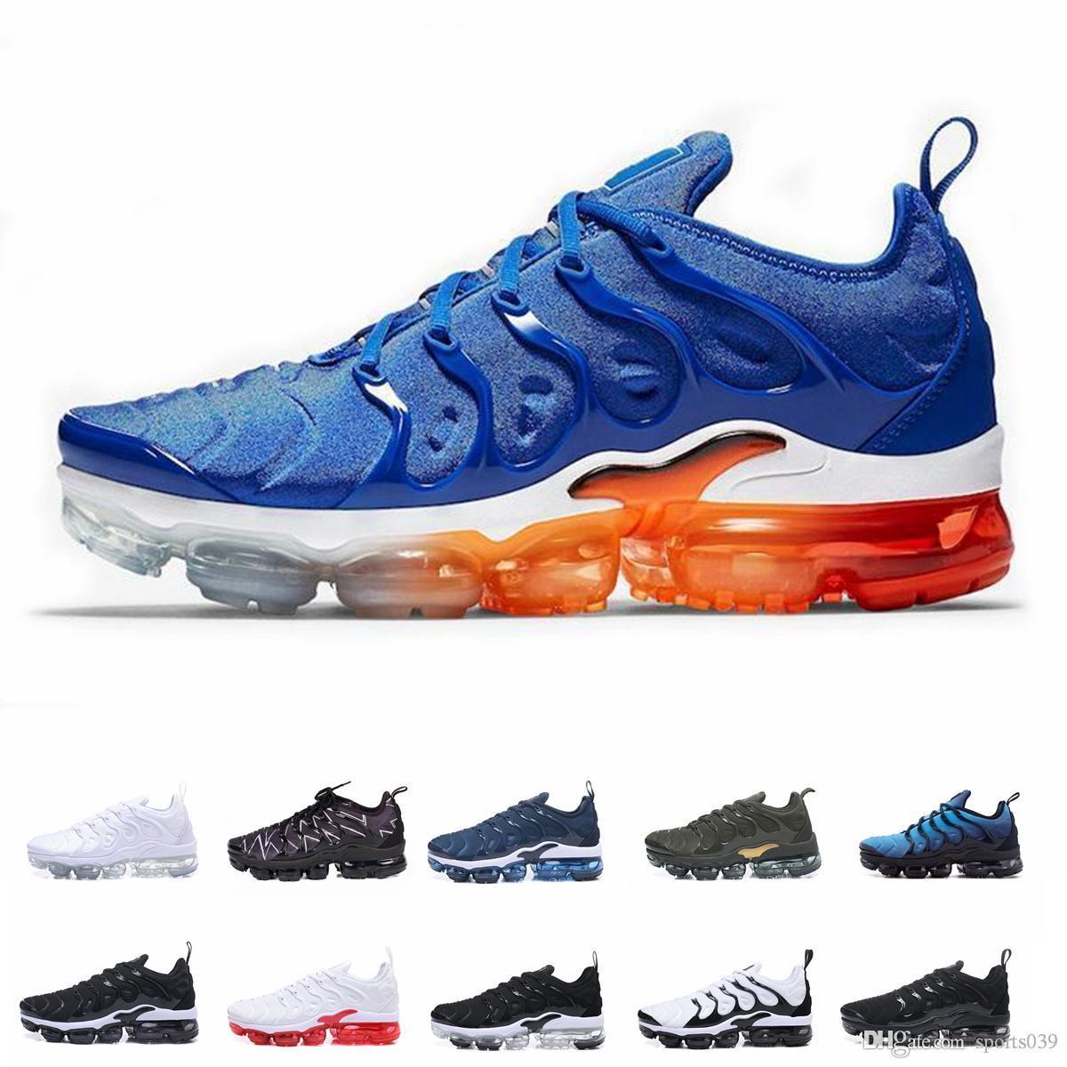 Nike Spedizione gratuita Nuovo 2019 Scarpe da uomo Sneakers TN Plus traspirante AirCusion Desingers Scarpe da corsa casuali Nuovo arrivo Colore US5,5-11 EUR36-45