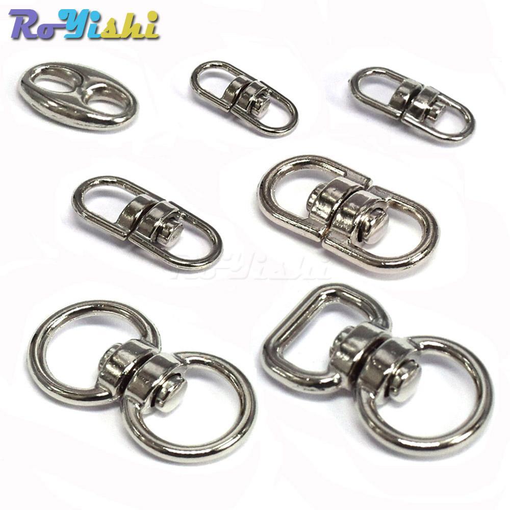 100pcs / lot Silver Metal Swifel Hook Clasp Key Chains Connectors For Lanyards Paracord Handbag Parts
