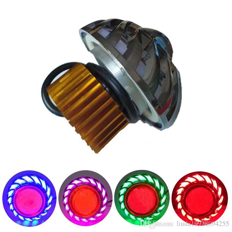 phare intégré de lampe frontale LED moto Ange Diable yeux projecteur ultra lumineux lampe véhicule électrique 12V 10W 80V usage général