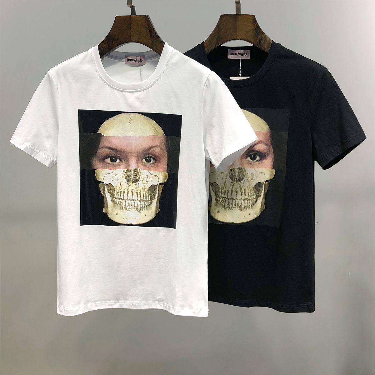 2020 Человек лето с коротким рукавом футболки Pure тонкий Одежда Новый шаблон Trend Свободное время Мужская одежда 11284