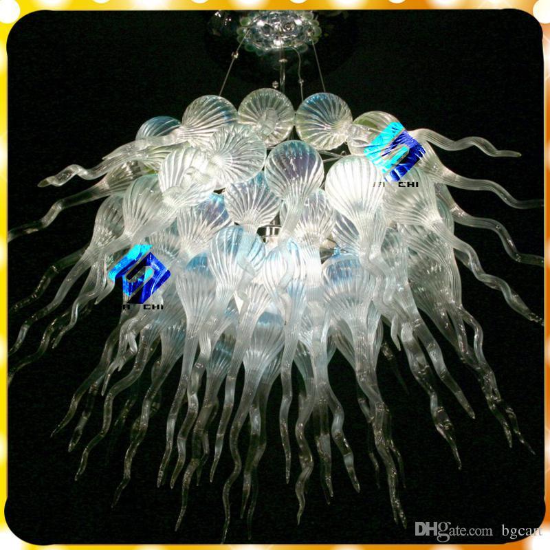 دائرة شخصية كريستال الثريا ضوء مصباح فيلا الفن الحديث ديكور الزجاج شنقا led chihuly نمط الثريا للبيع