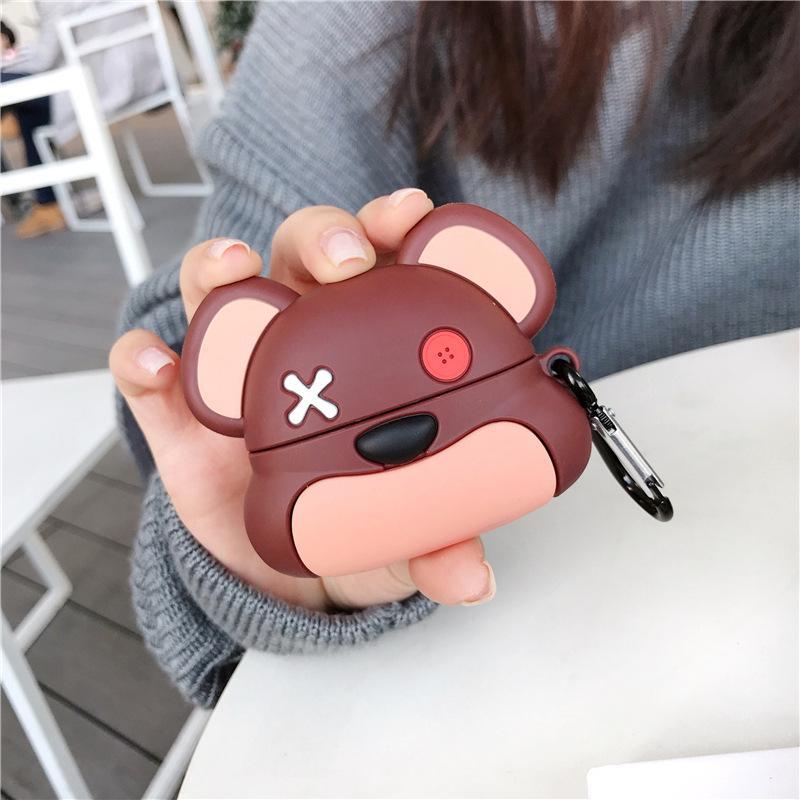 Raffreddare airpods Pro orso violento manicotto protettivo adatto a posto manica auricolare Airpods3 goccia di silicone manica cuffie di Apple
