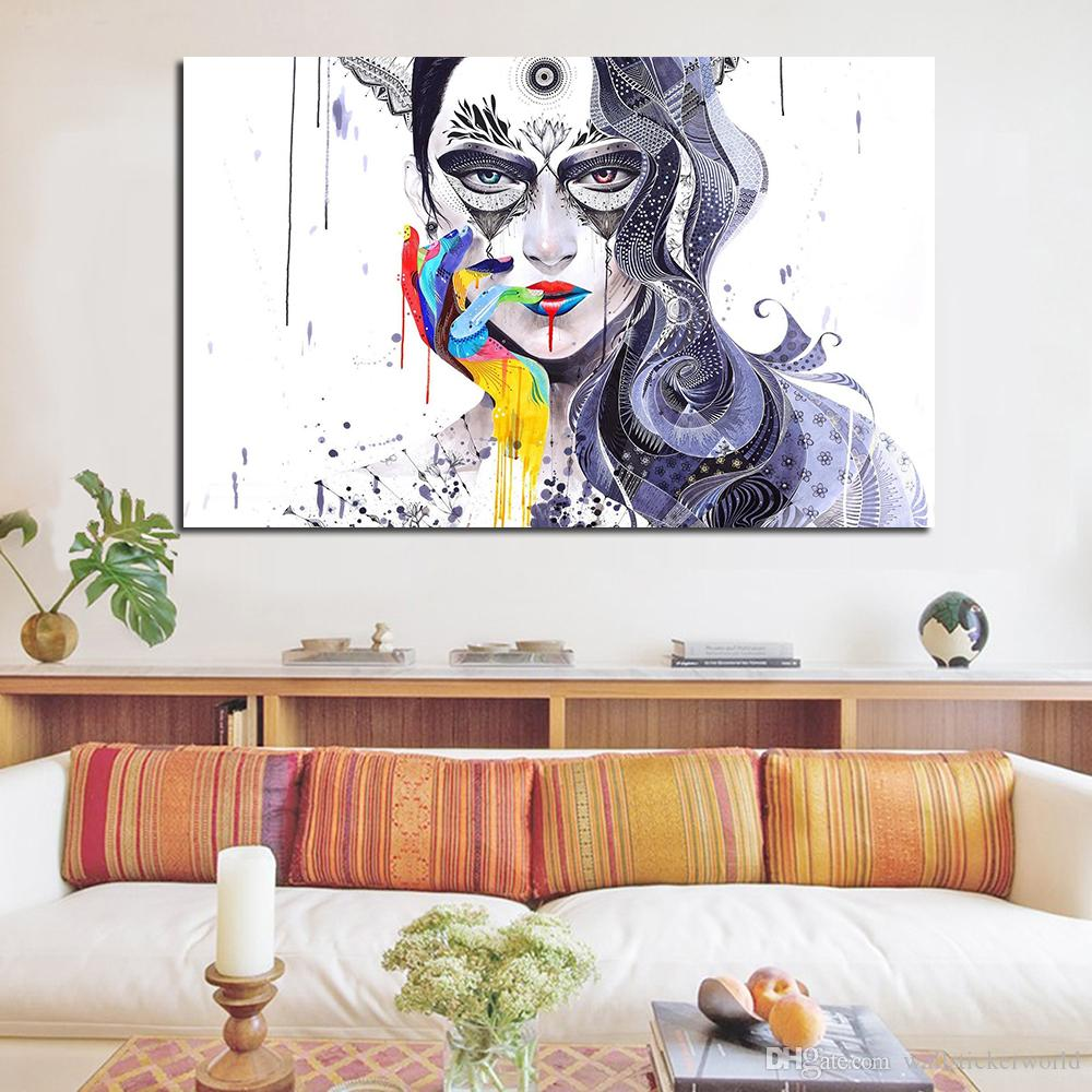 1 Piece Multicolor Nail Modern Wall Pictures For Living Room Painting Wall Painting Picture Canvas Art No Frame