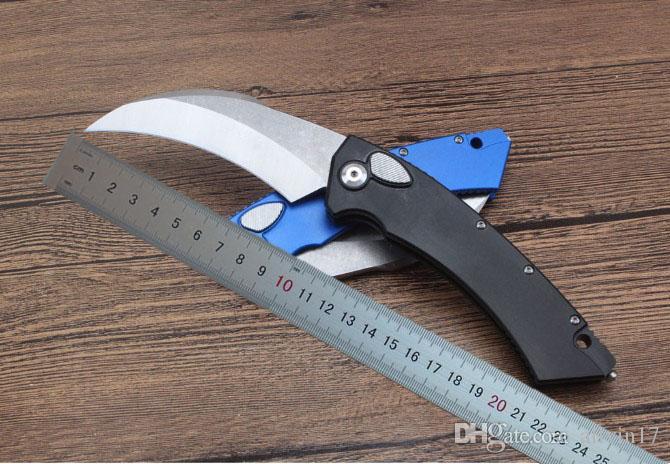 1 шт. новый 132 МТ авто тактический Karambit Коготь нож D2 Сатин лезвие CNC 6061-T6 алюминиевая ручка с розничной коробке