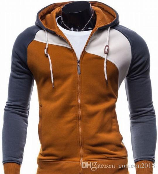 Designer Men Sweatshirt Patchwork hoodies Fleece Zipper Sweatshirts Streetwear mens hooded coat stitching jackets cashmere sweatershirts