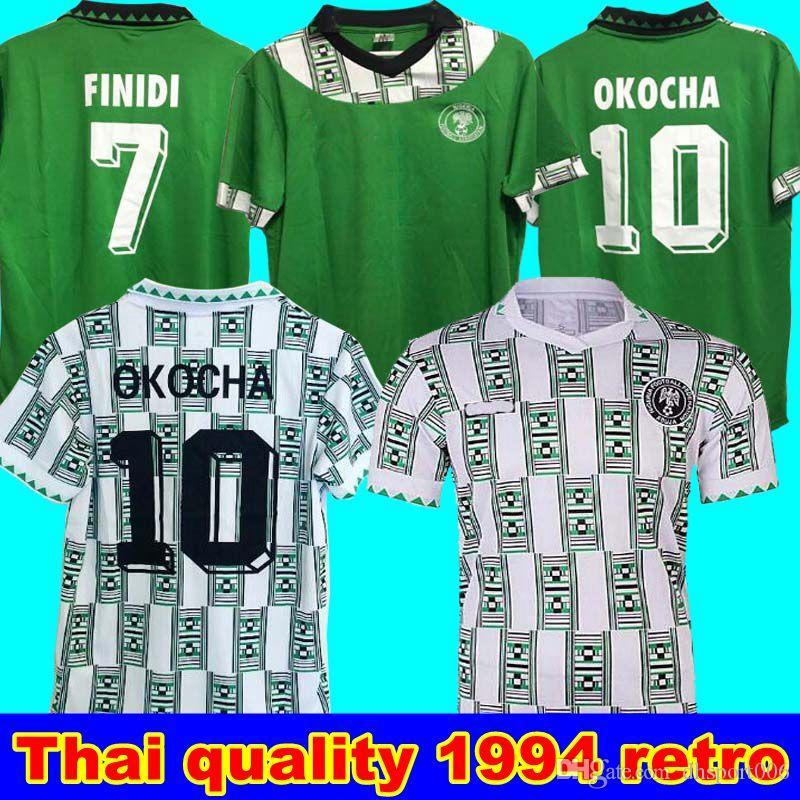 1994 ريترو الطبعة نيجيريا المنزل بعيدا جيرسي لكرة القدم 9 Starboy كرة القدم قميص كرة القدم الزي أوكيشوكو دايو أوجو أوساس أوكورو كلاسيكي