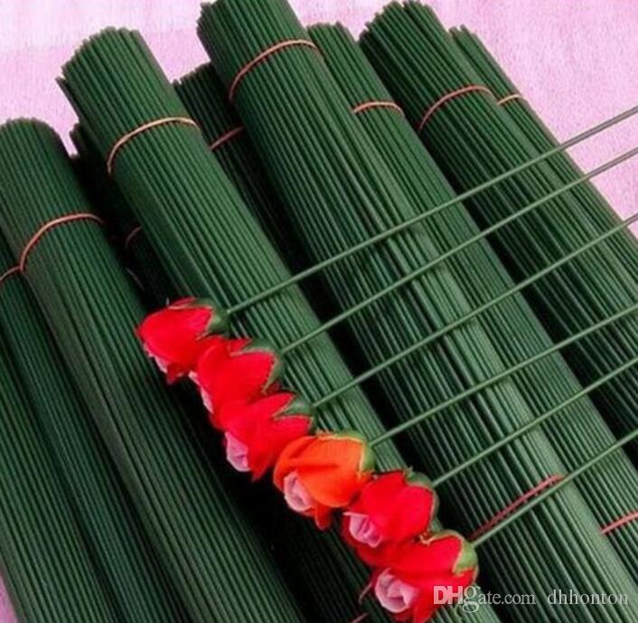 Accesorios artificial Flor 20-40cm de largo tallo de rosa 100pieces / bolsa de metales de trole pega para el hogar regalos de boda Decoración de la guirnalda de bricolaje