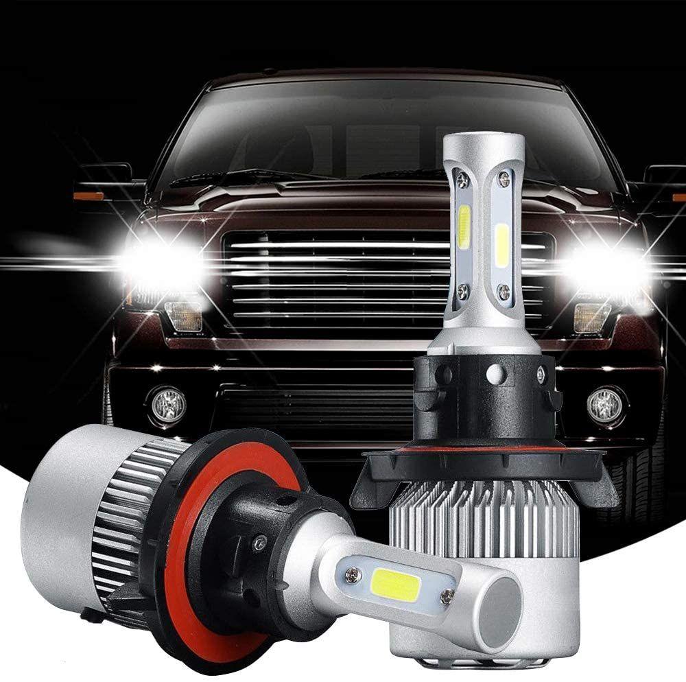 H13 9008 LED 헤드 라이트 전구 변환 키트 올인원 3 측 하이 - 로우 듀얼 빔 슈퍼 밝은 COB 칩 6000K 화이트 72W 8000LM