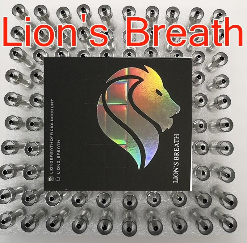 Lions respiro Carrelli Vape cartucce monouso di Lion Breath 510 atomizzatori 0,8 ml 1,0 ml rotonda Press punta in ceramica Bobine vaporizzatore Vuotare 10 colori