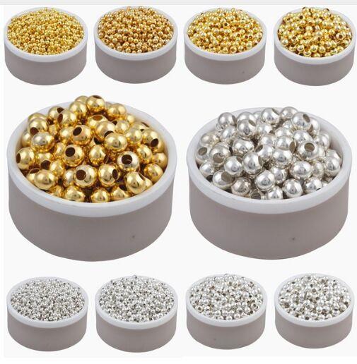 1000PCS / серии Золото Серебро сплава цвета Космических свободных шарики 3 мм шарики для Diy ожерелье ювелирных изделий изготовления ювелирных изделий