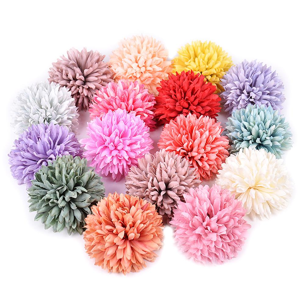 2pcs Silk Artificial Flower Dandelion Ball For Wedding Home Decoration Diy Craft Wreath Gift Valentine's Day Decor Fake Flowers