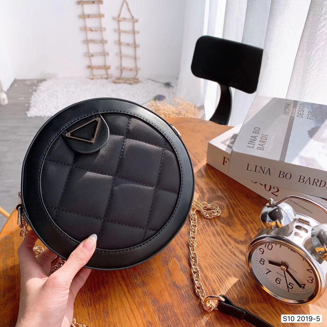 2020 Dhome signore nero Canvas Handbag con metallo maniglia cerimonia nuziale eleganti pochette Bun borsa del sacchetto della Round Top maniglia mano