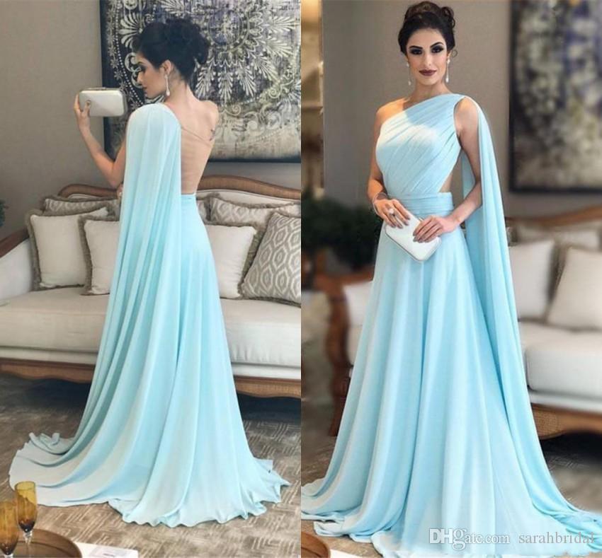 2021 barato um ombro chiffon longa dama de honra vestidos elegante convidado de casamento ruched empregada doméstica de honra