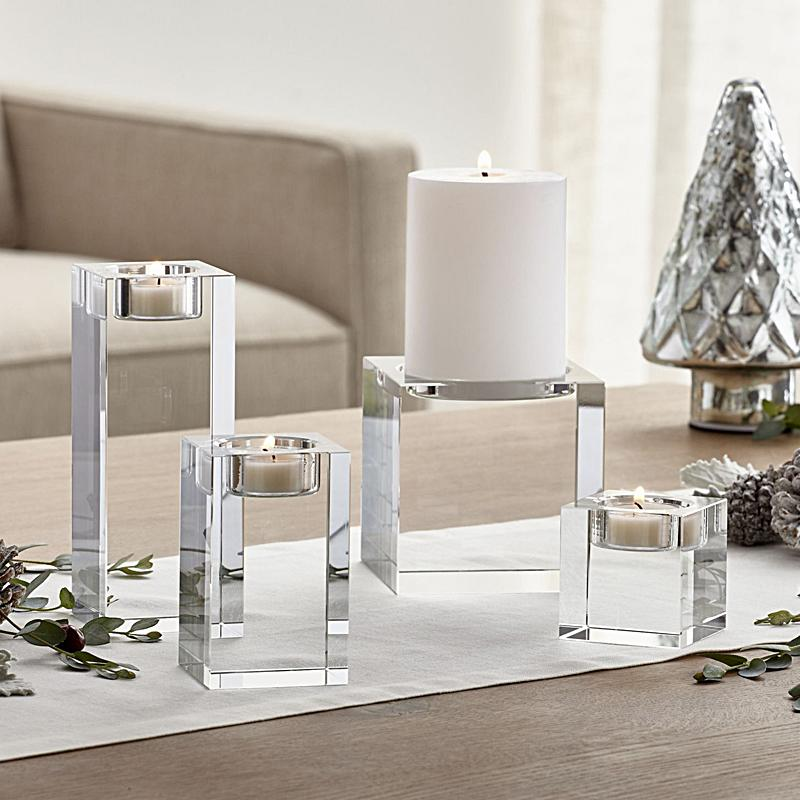 7 Size Crystal Candle Holders Small Tealight Candlestick Valentine's Day Candle light Dinner Table Centerpiece For Home Bar Decoration