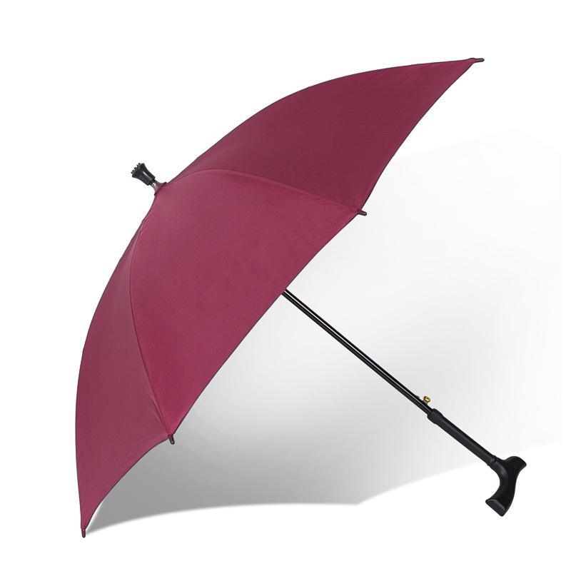 تماما وظيفة سوبر قوي زائد الصلبة والمسنين مقبض طويل المشي عصا عدم الانزلاق تسلق الجبال الأمطار أو أشعة الشمس مظلة